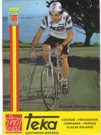 Carte Cyclisme Coureur Cycliste équipe Teka Bernardo Alfonsel Lopez - Radsport