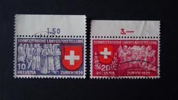 Switzerland - 1939 - Mi:CH 335,336 Sn:CH 250,251 Yt:CH 326,327 O - Look Scan - Usados