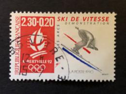 Timbre 2675 Ski De Vitesse Oblitéré Cachet Rond - Usados