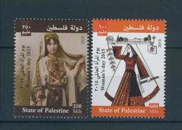 Palestine 305, Palestinian Authority, 2014, WOMAN's DAY, 2 Stamps, MNH. - Palestine