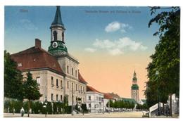 Cpa, Tilsit. N°229. 227480. Deutsche Strasse Mit Rathaus U Kirche - RUSSIE  /n 222 - Russia