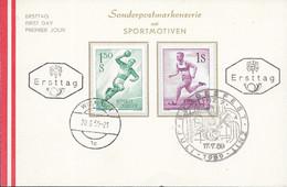 AUSTRIA  - 1959 FDC CARD - SPORTMOTIVEN -  1172 - FDC