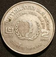 THAILANDE - THAILAND - 2 BAHT 1985 ( 2528 ) - Année De La Jeunesse - KM 176 - INTERNATIONAL YOUTH YEAR - Thailand