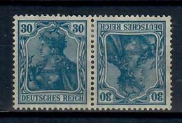 GERMANIA DEUTSCHES REICH 1920 - ACCOPPIAMENTI - K2 -- TETE BECHE - MH/* - Se-Tenant