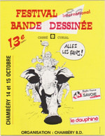 HERMANN  - Festival Bande Dessinée Chambery - Elephant - CPM 10.5x15 TBE 1983 Neuve - Andere Illustrators
