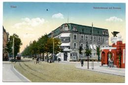 Cpa, Tilsit. 204848. Bahnhofststrasse Mit Brunnen - RUSSIE  /n 226 - Russia