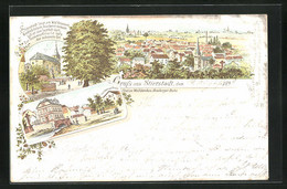 Lithographie Stierstadt, Panorama, Kirche, Gasthaus Zum Hirsch - Unclassified