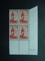 Maroc Poste Aérienne Yvert PA 44 Coin Daté 22.11.40 - Aéreo