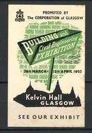 Reklamemarke Glasgow, Building And Civil Engineering Exhibition 1952, Kelvin Hall - Erinofilia
