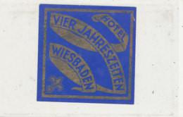 E H 687 A- ETIQUETTE   HOTEL  NASSAUERHOF  WIESBADEN - Hotel Labels