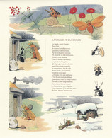 LA CIGALE ET LA FOURMI, Fable Avec Vignette, Repros De Dessins De Benjamin Rabier - Otros