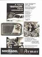 "PUB TRANSISTOR    "" SENIOR""  De  ( SOCRADEL ARMOR ) 1960 ( 3 ) - Altri"