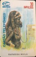 ANGOLA  -  Phonecard  - Tribu Femme  -   30 Impulsos - Angola