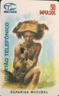 ANGOLA  -  Phonecard  - Tribu Homme  -   50 Impulsos - Angola