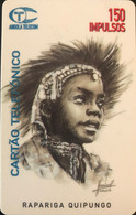ANGOLA  -  Phonecard  - Tribu Jeune -   150 Impulsos - Angola