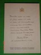 """Anno 1971 Papa PAOLO VI - Benedizione Apostolica/ Pietro Lorenzetti """"Madonna Bambino"""" Assisi,S.Francesco Bas.Inf.santino - Santini"""