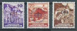 Liechtenstein Timbres De Service YT N°14-15-16 Série Courante Surchargé Regierungs Dienstsache Neuf ** - Official