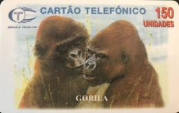 ANGOLA  -  Phonecard  - Gorilla  -   150 Impulsos - Angola