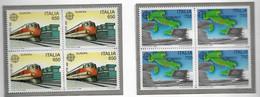 EUROPA, 1988 Serie In Quartina** - 1981-90: Neufs