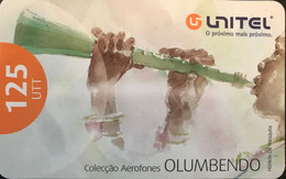 ANGOLA  -  Prepaid  -  Instrument De Musique  -  125 UTT - Angola