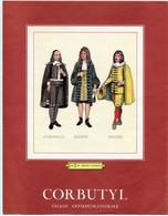 LOT 2 Images Publicitaires 1963 CORBUTYL 27 X 21 Les 3 Du Théâtre Classique Corneille Racine Molière & Les 3 Rois Mages - Werbung