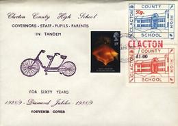 Rugby - Grande Bretagne  1989 Clacton School  (cyclisme-tennis-Rugby-cricket (en Bordure Du Timbre) - Rugby