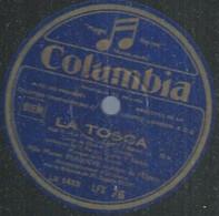 "106 ) 78 Tours 30cm COLUMBIA 76  "" LA TOSCA "" + "" MADAME BUTTERFLY "" Marise BEAUJON - 78 G - Dischi Per Fonografi"