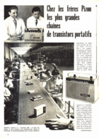 "PUB-REPORTAGE  TRANSISTOR    "" PIZON-BROS ""   1960 ( 1 ) - Altri"