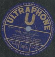 "107 ) 78 Tours 30cm ULTRAPHONE "" VERDI - POTPOURI N° 1 "" + "" VERDI - POTPOURRI N° 1 "" ORCHESTRE PHILHARMONIQUE DE BERLIN - 78 G - Dischi Per Fonografi"