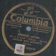 "110 ) 78 Tours 30cm COLUMBIA 9345 "" SERENADE "" + "" CONTREDANCE "" KEDROFF MALE QUARTETTE - 78 G - Dischi Per Fonografi"