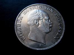 1 THALER GUILLAUME 1er  De PRUSSE 1861 A  état : SUP - Taler Et Doppeltaler