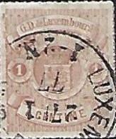 Luxembourg - Luxemburg - Timbres  1872  Armoire  1 C ° Michel 24    -  VC  10,-  2 Scans - Blocchi & Foglietti