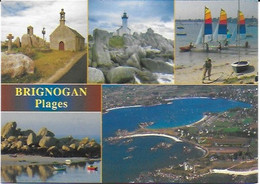 Brignogan - La Chapelle Pol, Le Phare, L'école De Voile, Les Rochers De Pontusval Et Vue Générale - Brignogan-Plage