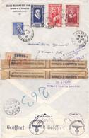LR Cannes 16 12 1943 Pour La Suisse Dont Timbres Surtaxe Double Contrôle à Lyon Douane Française Censure Allemande - 1921-1960: Modern Period