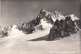 Colle E Dente Del Gigante 4014 M - Old Postcard - 1949 - Italy - Italia - Used - Sin Clasificación