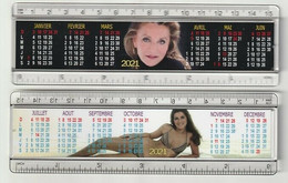 REGLE CALENDRIER SHEILA ANNEE 2021 IMAGE RECTO VERSO 15 CM - Altri Oggetti