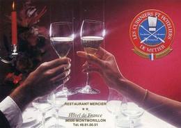 Montmorillon 86500 Carte Pub Restaurant Mercier 060CP07 - Montmorillon