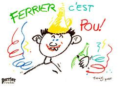 CPM - PUB PERRIER 1985 - FERRIER C'EST POU - DANIEL VIGNAT - Advertising