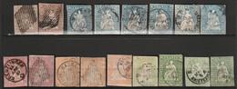 SUISSE - LOT De 17 Timbres Obl (1854-62) Helvetia - Gebraucht