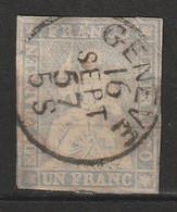 SUISSE - N°31a Obl (1854-62) Helvetia - Gebraucht