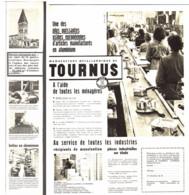"""Pub-reportage  MANUFACTURE METALLURGIQUE De """" TOURNUS  """"  1960  ( 1  ) - Bourgogne"""