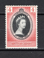 GUYANE BRITANIQUE   N° 184  NEUF AVEC CHARNIERE  COTE 0.30€   ELIZABETH II - Guyana Britannica (...-1966)