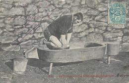 CPA 12 Aveyron Fabrication Du Fromage De Laguiole - Laguiole