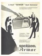 "PUB TRANSISTOR    "" SENIOR""  De  ( SOCRADEL ARMOR ) 1960 ( 4 ) - Altri"
