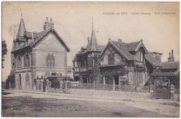 Villiers Sur Mer Chalet Decamp Villa Lafontaine Voyagé 1922 Fond Vert - Villers Sur Mer