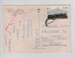 734PR/ Poland PC Warszawa 1981 Nieo Cenzurowane > Belgium Ninove Okegem - Briefe U. Dokumente