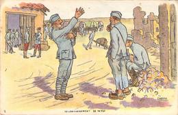 """Carte Postale """"A La Croix De Guerre"""" Illustrée Par Gabard Le Cantonnement De Repos Guerre 1914 - Autres Illustrateurs"""