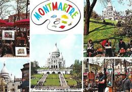 .CPSM  PARIS 75  :  Multi-Vues Sur Montmartre - Mehransichten, Panoramakarten