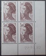 R1615/2451 - 1982 - TYPE LIBERTE DE GANDON - N°2243 BLOC NEUF** CdF CD : 22.11.82 - 1980-1989