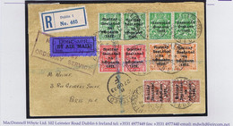 Ireland 1922 Harrison Rialtas Coils Pairs With Coil Join ½d 1d 1½d 2d Die 2 With 3-line ½d Pair With Coil Join On Airmai - Briefe U. Dokumente